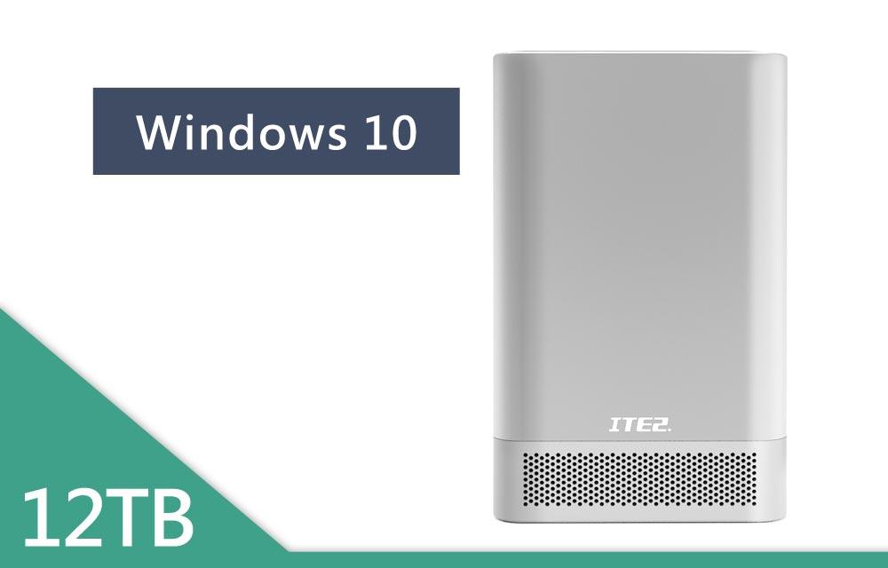 NE-201 Win10 含6TB硬碟x2 銀色