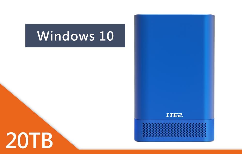 NE-201 Win10 含10TB硬碟x2 藍色